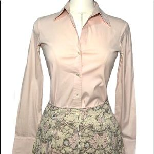 Theory Ivy French Cuff Blouse Sz Small